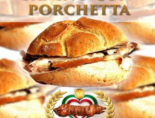 Panino con porchetta per la vostra festa
