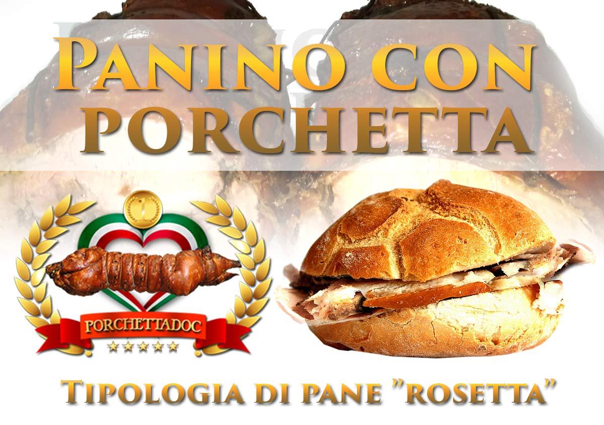 Panino con porchetta di Ariccia - Rosetta e porchetta