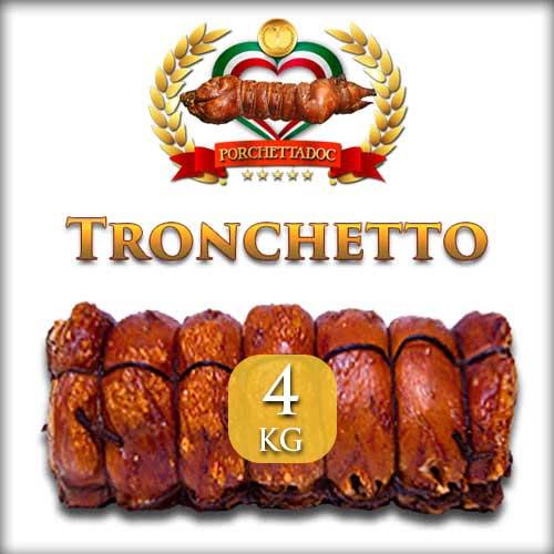 Tronchetto di porchetta di Ariccia trancio da 4 Kg.