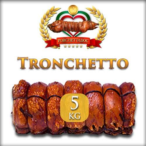 Tronchetto di porchetta di Ariccia trancio da 5 Kg.