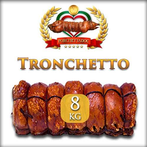 Tronchetto di porchetta IGP di Ariccia trancio da 8 Kg.