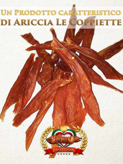 """Un prodotto caratteristico di Ariccia, le """"coppiette"""" Coppiette di Maiale online 1 Kg."""