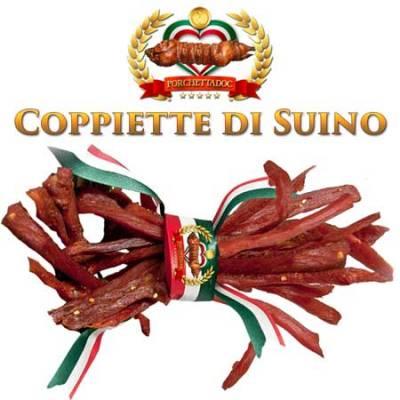Prezzo Coppiette di Suino o coppiette di Maiale Tronchetto di Porchetta di Ariccia 4 Kg. più 500 Grammi coppiette