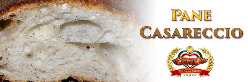 """Pane casareccio tipo """"filone"""" per panino con porchetta"""