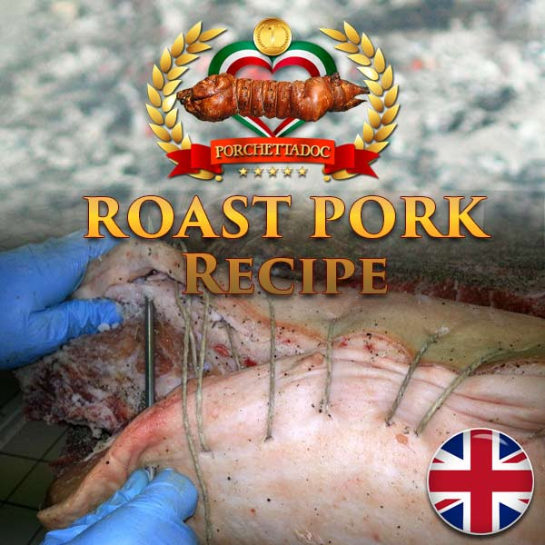 Roast pork better known as the porchetta