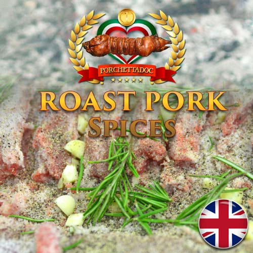 Roast pork recipe of Italy with it's spices( The Porchetta) Roast pork better known as the porchetta