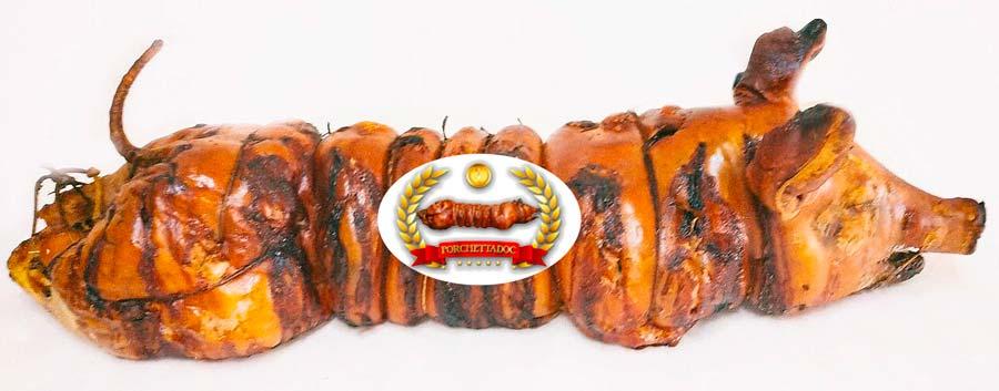 Porchettina piccola ideale per eventi. Porchettina piccola con peso da 15 a 20 kg. Porchetta a Roma consegna a domicilio