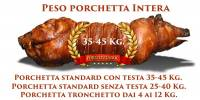 Peso porchetta intera
