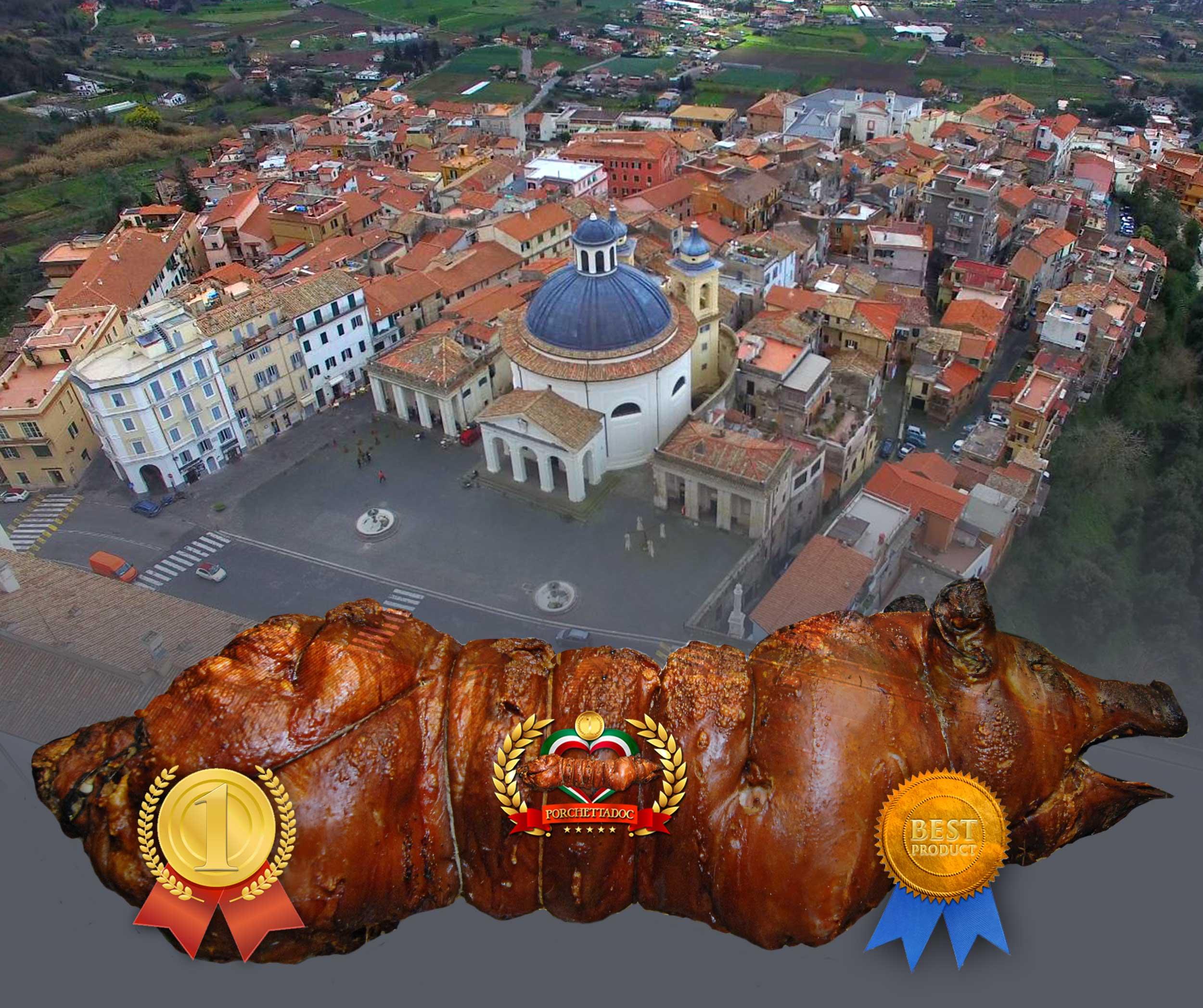 Porchetta - Immagini della porchetta di Ariccia. Foto porchetta intera e senza testa