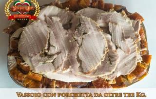Fraschetta a domicilio Roma - Vassoio con porchetta affettata 3 Kg.