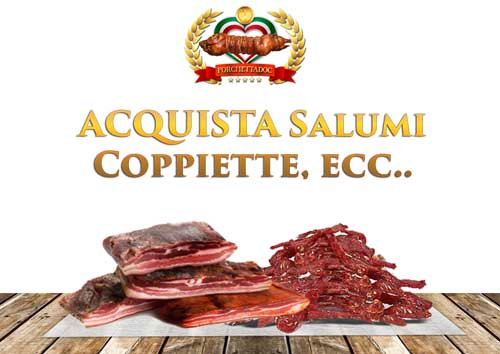 Acquista coppiette di maiale online! Porchetta