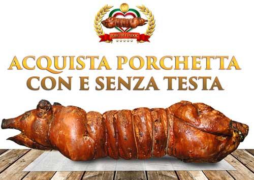Porchetta di Ariccia: acquista direttamente dalla capitale della porchetta intera online! Porchetta ingrosso
