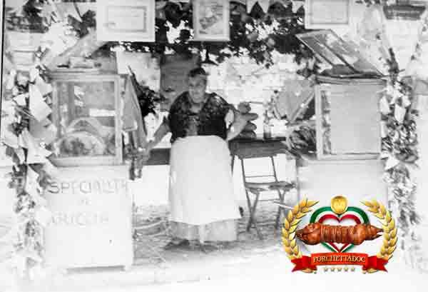 Fraschette ante litteram ai primi del secolo sulla poazza di Ariccia Produttori porchetta Ariccia