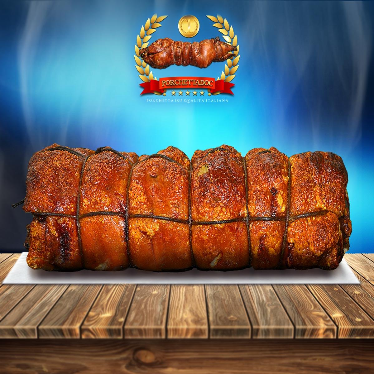 Tronchetto IGP di porchetta di Ariccia IGP caldo ricevilo a domicilio in 24-48 ore Tronchetto di porchetta ricetta