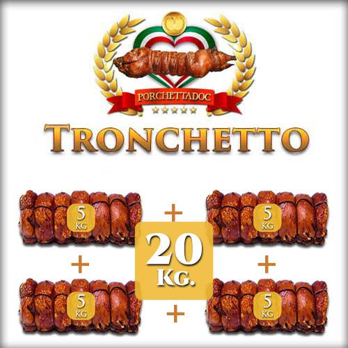 Offerta Tronchetto di Porchetta 20 Kg. 4 pezzi da 5 Kg