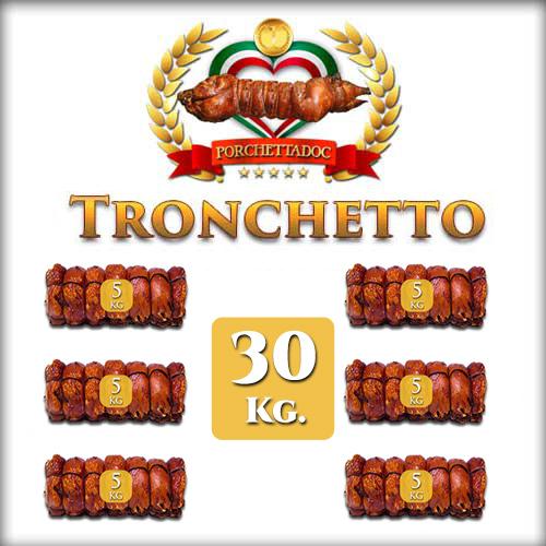 Offerta Tronchetto di Porchetta 30 Kg. (6 pezzi da 5 Kg.) Offerta Tronchetto di Porchetta 30 Kg. 6 pezzi da 5 Kg