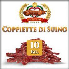 Coppiette di Maiale online 10 Kg. 10 pacchetti sottovuoto da 1 Kg l'uno Porchetta offerte quantità per rivenditori